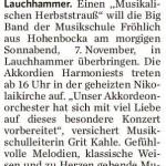 Lausitzer Rundschau vom 06.11.2015